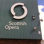 Scottish Opera exterior branding installation.