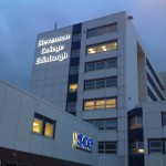 Light signage installation for Stevenson College in Edinburgh.